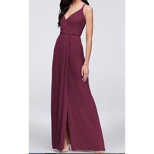 David's Bridal wine wrap bridesmaid/prom dress